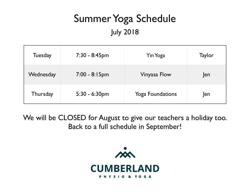 Summer schedule 2018-1